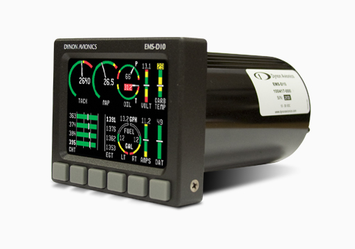 The EMS-D10 is an ergonomically engineered Engine Monitoring System (EMS) that blends traditional analog gauges with newer digital technologies.